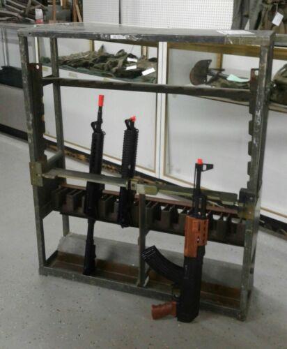 USGI  MILITARY  GUN RACK SMALL ARMS STORAGE PREPPER M12 ALUMINUM HOLDS 10 LOCKS