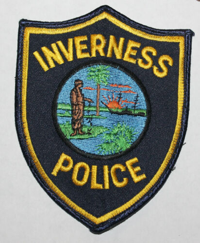 Defunct INVERNESS POLICE Florida FL Fla PD Used Worn patch