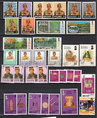 BRUNEI 1974  1993 lot of 35 stamps used   british colonies