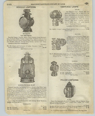 1918 PAPER AD Police Lantern Eureka Old Sol Solar Carriage Lamp Railroad - Solar Paper Lanterns