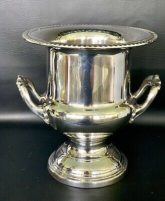 Vintage Silver Plate Champagne Wine Cooler or Ice Bucket by Leonard