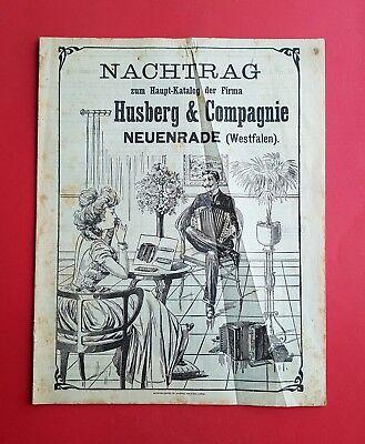 alter Katalog HUSBERG & Compagnie NEUENRADE Westfalen MUSIK Instrumente ( F16940