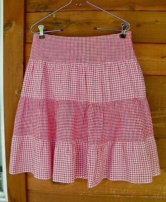 Ralph Lauren red gingham and plaid skirt fully lined side zipper Small](Red Gingham Skirt)