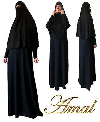 ❤️AMAL Muslim Niqab&Dress Nikab Women Burka Overhead Jilbab Hijab Abaya Khimar