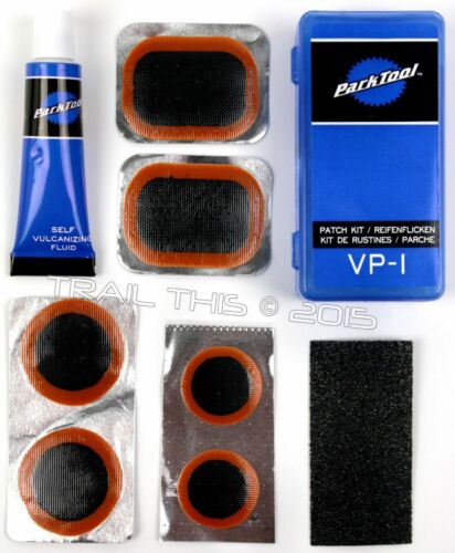 Park Tool VP-1 Bicycle Tire Tube Vulcanizing Patch Repair Kit - 6-Patches + Glue