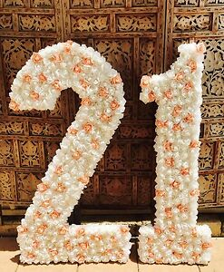 21st Birthday HUGE floor standing Numbers  Decorations Flower Wall Pearsall Wanneroo Area Preview