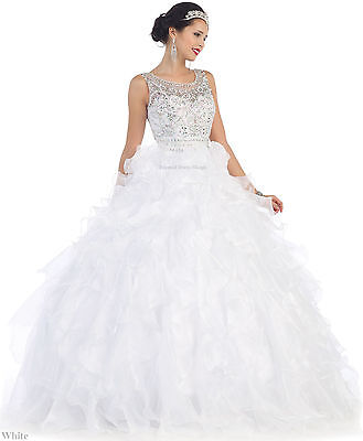 SALE !! QUINCEANERA MARDI GRAS BALL GOWN DEBUTANTE PRINCESS WEDDING BRIDAL DRESS (Mardi Gras Ball Gowns)