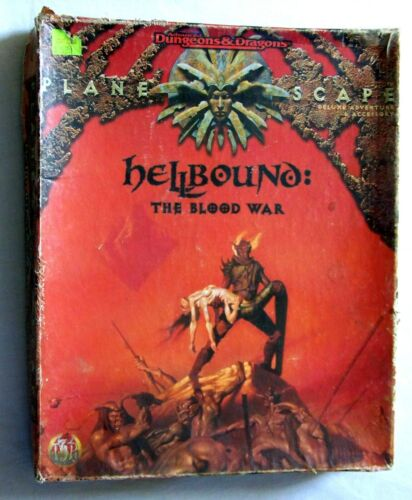 AD&D PLANESCAPE HELLBOUND: THE BLOOD WAR Box Set - 95% complete read first