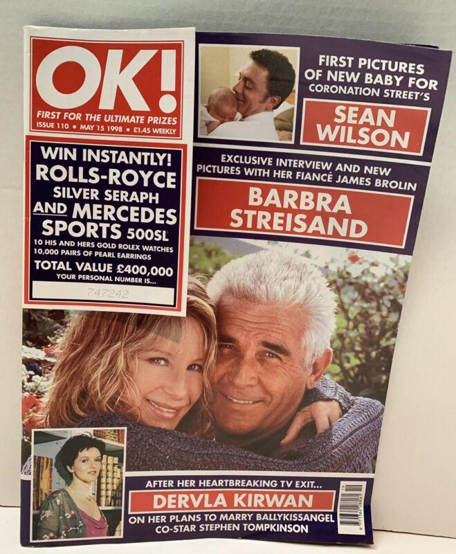 Barbra Streisand & Fiance James Brolin OK Magazine Cover Interview 5/15/98 UK