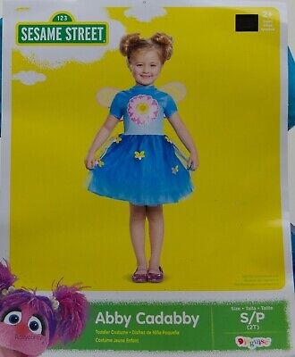 Abby Cadabby Halloween Costume (Halloween Sesame Street Abby Cadabby Toddler Costume Dress Size Small 2T)