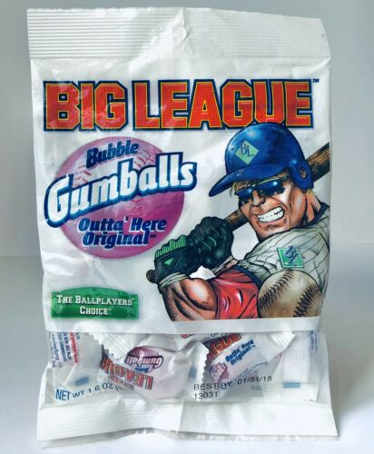 """Vintage 2011 Ford Gum BIG LEAGUE CHEW GUMBALLS Candy Bag Container 8"""""""