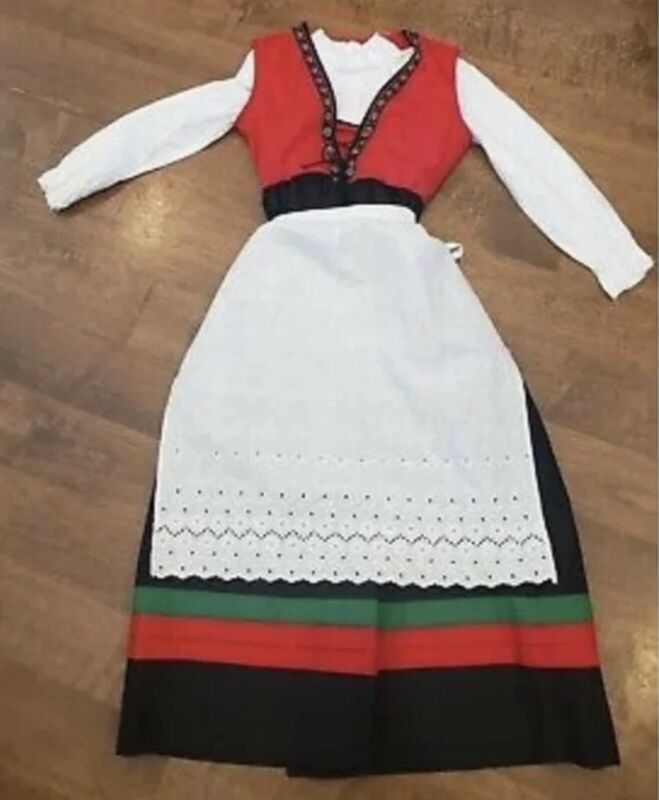 Vintage Dirndl Oktoberfest Dress youth girls 8-10