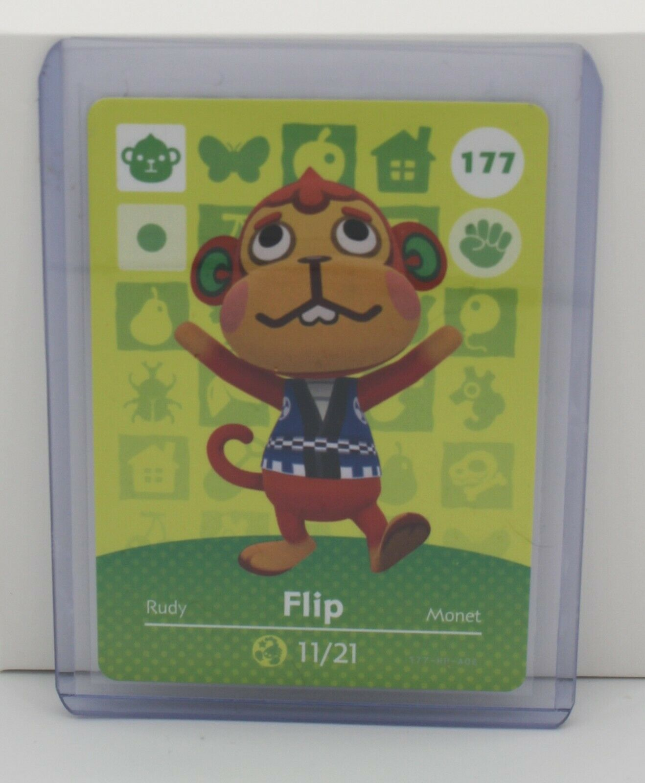 Animal Crossing Series 2 Amiibo Card - 177 FLIP - Never Scanned, US Version - $0.99