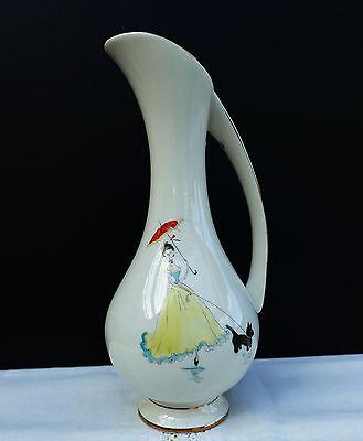 """Seltene Porzellan Vase Design """" Elfi """" Kronach OCA Bavaria 50er Jahre Handgemalt"""