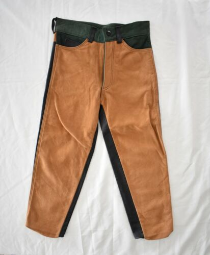 Vintage LEATHER & SUEDE PANTS Kids Boys Girls Children