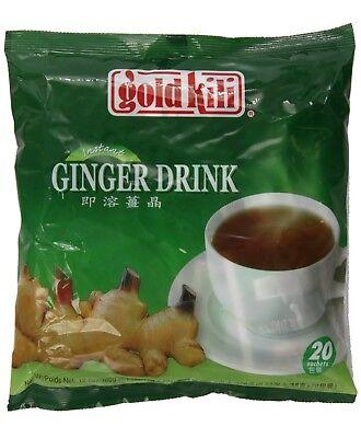 Gold Kili Natural Instant Ginger Tea Drink, 360g Bag (20 - Instant Ginger Drink