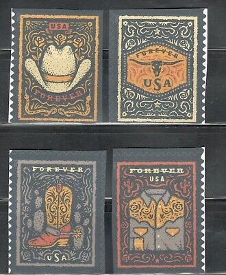 5615-18 Western Wear Booklet Set Of 4 Mint/nh FREE SHIPPING