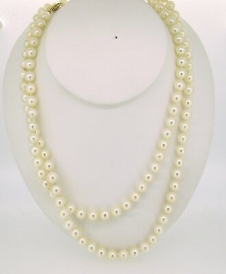 STUNNING Pearl Necklace with 14KT Yellow Gold Clasp
