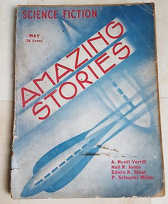 Amazing Stories vintage pulp fiction comic May 1933 vol 8 no 2