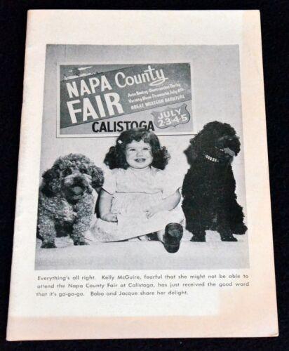 NAPA COUNTY FAIR 1964 PROGRAM CALISTOGA ROLLER DERBY  HARMON HANN EVERETT NOURSE