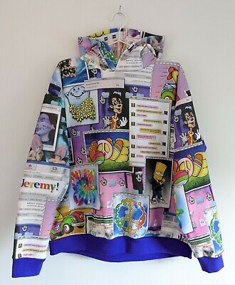 Jeremy Scott 'Delete History' FALL 2012 pullover hoodie mens/unisex LARGE