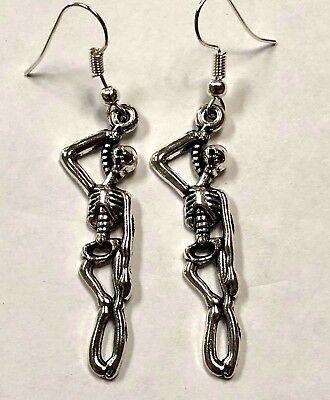 skeleton earrings Halloween FUN GIFT  dangle charm gift idea #63