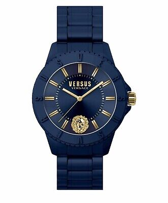 VERSUS by VERSACE WOMENS SILICONE WATCH NAVY BLUE NWT AUTHENTIC