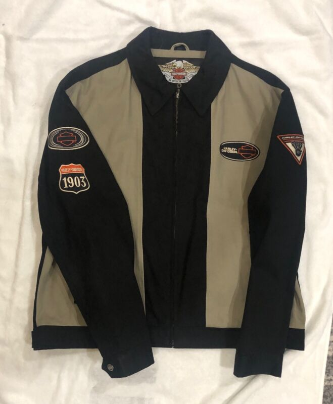 Harley Davidson Jacket Beige And Black Size XL (New Without Tags)