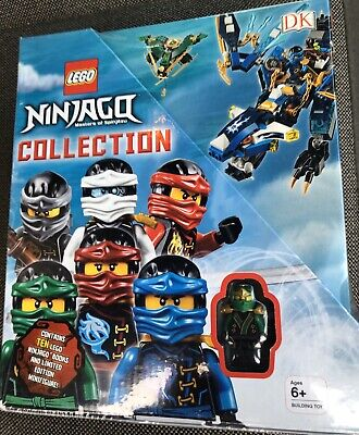 LEGO NINJAGO Collection: 10 Book Box Set with Minifigure ** FREE SHIPPING **