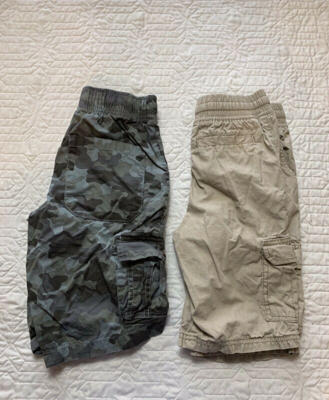Carter's, Cat & Jack Cargo Shorts Khaki, Camo Boys Size 8, Lot Of 2