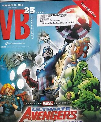 Video Business Magazine Ultimate Avengers Movies November 28, 2005 051719nonr for sale  Shipping to India