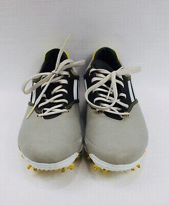 Adidas Adizero Tour Golf Shoes Sprintweb Men's Size 8.5 Gray Yellow Black GUC for sale  Glen Allen
