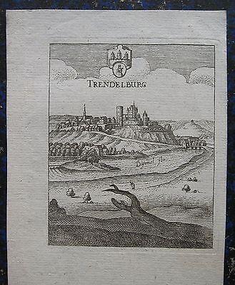 TRENDELBURG. Orig. Kupferstich von MERIAN ca. 1650