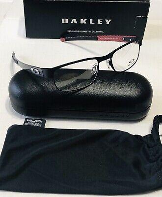 Eyeglass Frames-Oakley carbon plate OX5079-0155 Matte Black 55mm Titanium (Titanium Oakley Frames)
