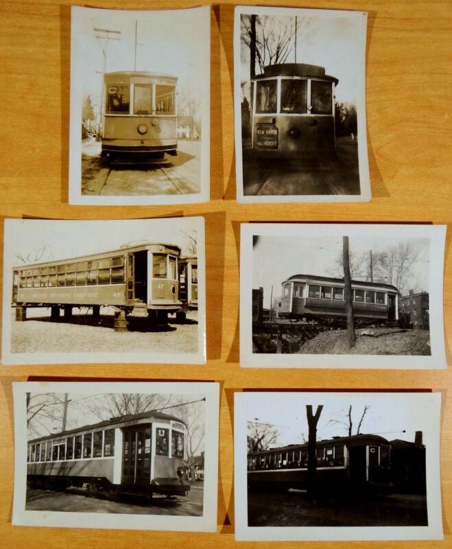 6 Trolley Car Photographs Connecticut Co. Railroad & Bristol Traction Co. 1930