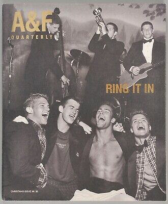 Abercrombie & Fitch Christmas 1998 Quarterly Catalog Ring It In Bruce Weber A&F
