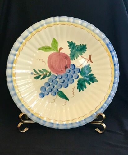 Stangl Harvest Fruit Chop Plate , 14 in. 1940's, Hand Painted, Ethel Kennedy