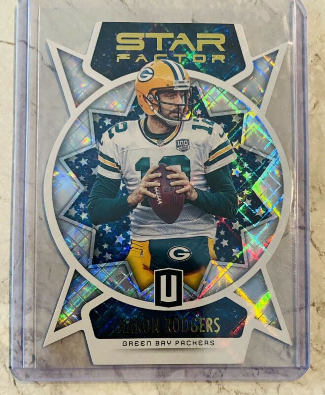 2019 Panini Unparalleled Star Factor Die Cut Aaron Rodgers Case Hit Packers