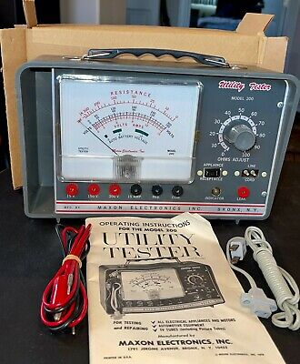 Vintage Maxon Electronics Utility Tester Model 200 New In Box