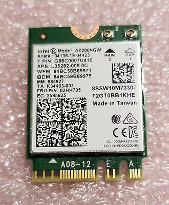Intel WiFi 6 AX200 Wireless Network Card 802.11ax MU-MIMO 160MHz Bluetooth 5.1
