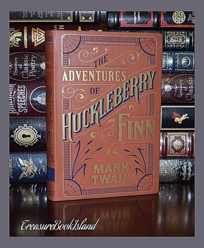 Adventures of Huckleberry Finn by Mark Twain Brand New Leather Bound Collectible