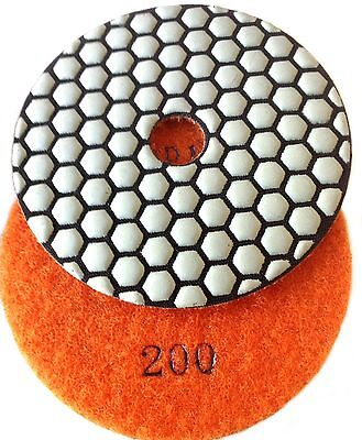 "4"" Inch GA Diamond Polishing Pad DRY 200 GRIT DPP11"