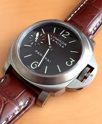 PANERAI LUMINOR MARINA TITANIUM WATCH PAM177, MINT, BOX/PAPERS