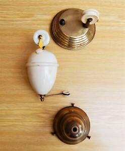 Vintage Antique Porcelain Rise & Fall Light Fittings Parts