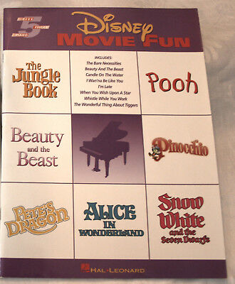 FIVE FINGER PIANO SONGBOOK, DISNEY MOVIE FUN Beauty and the Beast, Jungle Book (Five Finger Piano Book)
