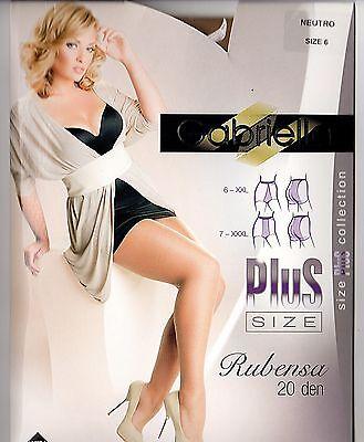Plus Size Rubensa Strumpfhose FARBEN 20 den leicht glänzend Gr XXL - XXXL 6 - 7