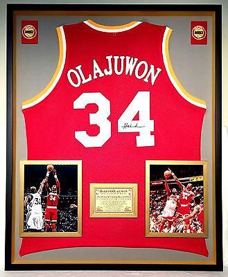 6a3d352c0 Premium Framed Hakeem Olajuwon Autographed Houston Rockets Jersey JSA COA