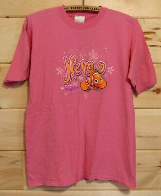 Disney Store Pixar Pink Finding Nemo Adult T-Shirt Size Large + - Find Adult Store