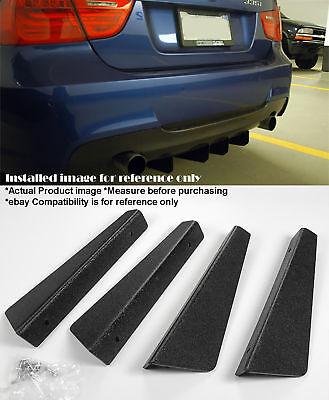 4 Pieces 12 x 287 ABS Textured Rear Bumper Diffuser Shark Fin For BMW Audi