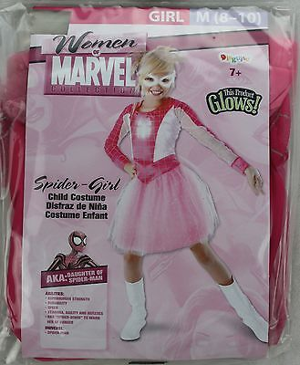 Halloween Women of Marvel Pink Spider Girl Costume Size Medium 8-10 NWT